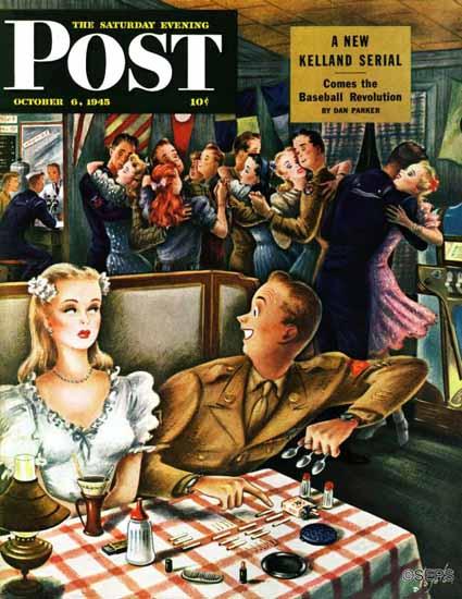 Constantin Alajalov Saturday Evening Post War Stories 1945_10_06   The Saturday Evening Post Graphic Art Covers 1931-1969