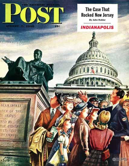Constantin Alajalov Saturday Evening Post Washington DC 1948_08_07   The Saturday Evening Post Graphic Art Covers 1931-1969
