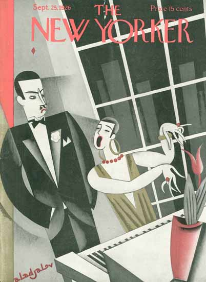 Constantin Alajalov The New Yorker 1926_09_25 Copyright | The New Yorker Graphic Art Covers 1925-1945