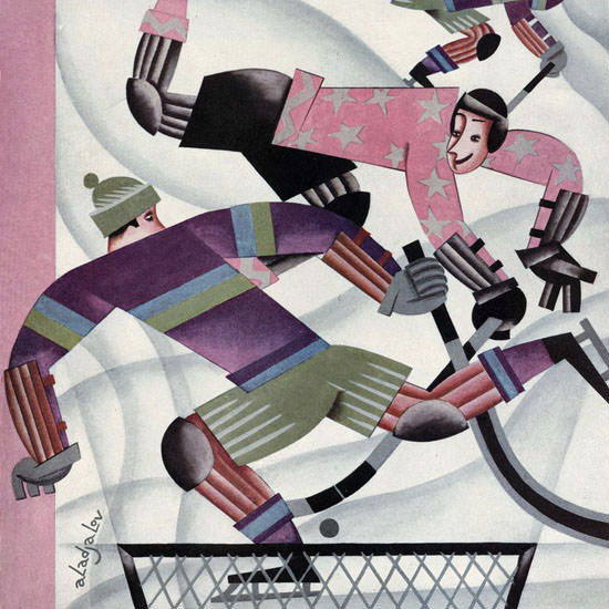 Constantin Alajalov The New Yorker 1927_01_15 Copyright crop | Best of Vintage Cover Art 1900-1970
