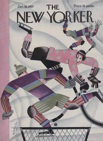Constantin Alajalov The New Yorker 1927_01_15 Copyright | The New Yorker Graphic Art Covers 1925-1945