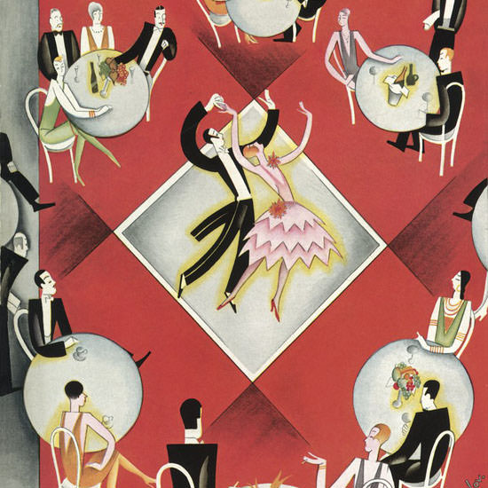 Constantin Alajalov The New Yorker 1927_12_03 Copyright crop | Best of 1920s Ad and Cover Art