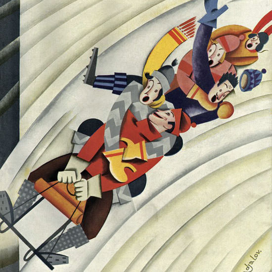 Constantin Alajalov The New Yorker 1928_01_21 Copyright crop | Best of 1920s Ad and Cover Art
