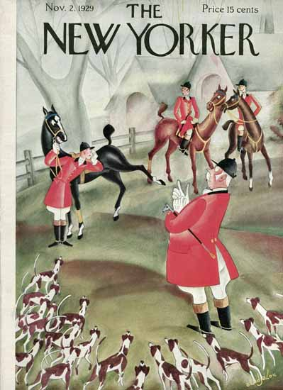 Constantin Alajalov The New Yorker 1929_11_02 Copyright | The New Yorker Graphic Art Covers 1925-1945