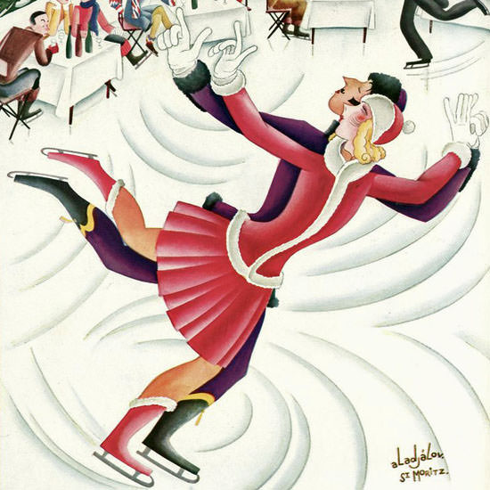 Constantin Alajalov The New Yorker 1930_01_18 Copyright crop | Best of Vintage Cover Art 1900-1970