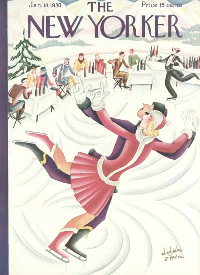 Constantin Alajalov The New Yorker 1930_01_18 Copyright | The New Yorker Graphic Art Covers 1925-1945