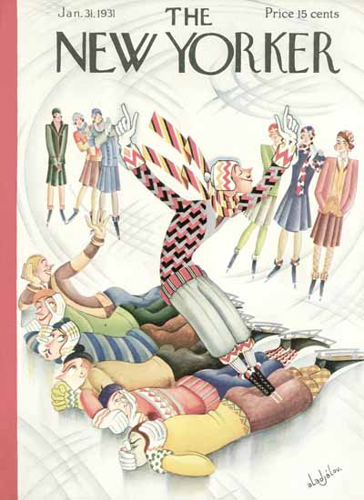 Constantin Alajalov The New Yorker 1931_01_31 Copyright | The New Yorker Graphic Art Covers 1925-1945