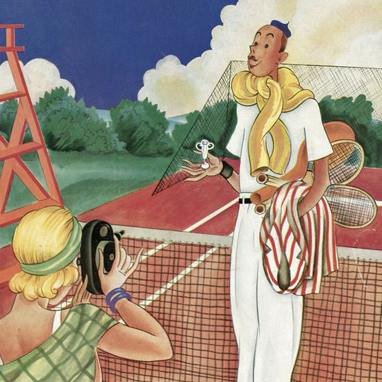 Constantin Alajalov The New Yorker 1931_08_29 Copyright crop | Best of 1930s Ad and Cover Art