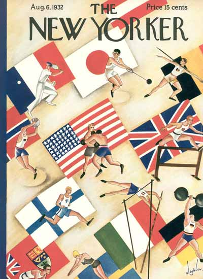 Constantin Alajalov The New Yorker 1932_08_06 Copyright | The New Yorker Graphic Art Covers 1925-1945