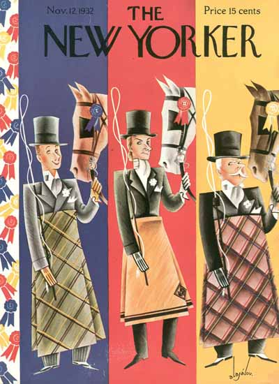 Constantin Alajalov The New Yorker 1932_11_12 Copyright | The New Yorker Graphic Art Covers 1925-1945