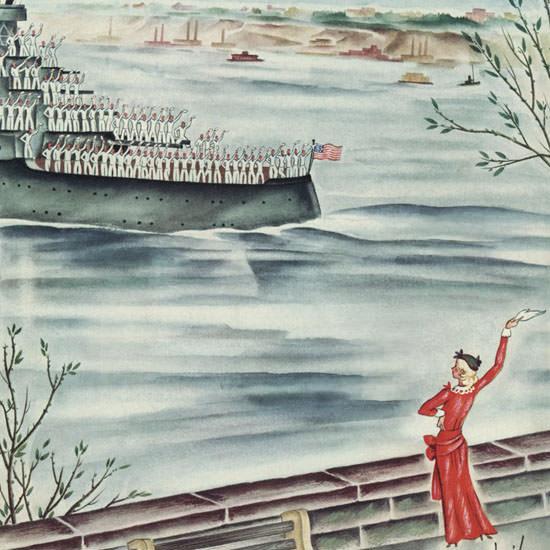 Constantin Alajalov The New Yorker 1934_06_16 Copyright crop | Best of Vintage Cover Art 1900-1970