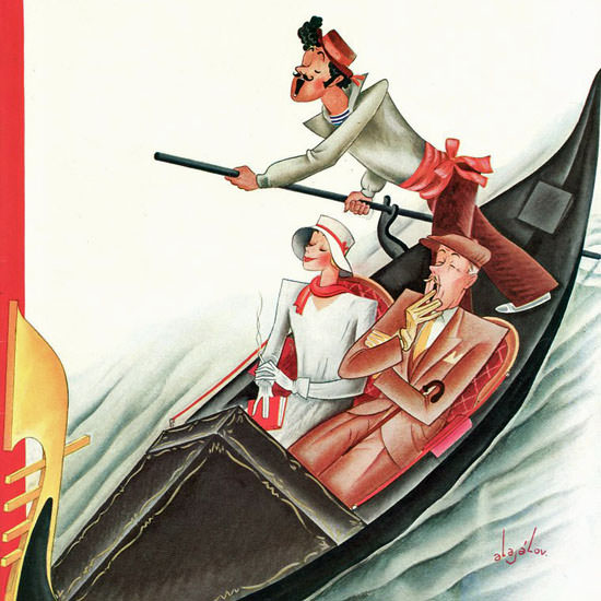 Constantin Alajalov The New Yorker 1934_08_11 Copyright crop | Best of Vintage Cover Art 1900-1970
