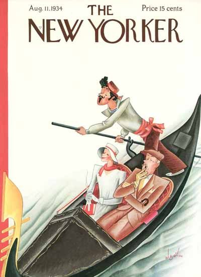 Constantin Alajalov The New Yorker 1934_08_11 Copyright | The New Yorker Graphic Art Covers 1925-1945