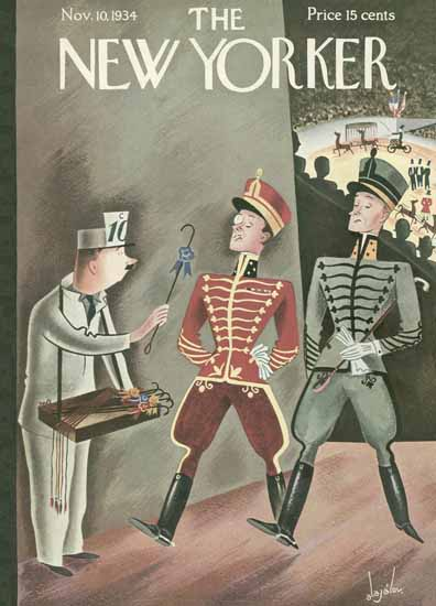 Constantin Alajalov The New Yorker 1934_11_10 Copyright | The New Yorker Graphic Art Covers 1925-1945