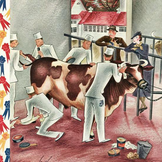 Constantin Alajalov The New Yorker 1935_10_05 Copyright crop | Best of Vintage Cover Art 1900-1970