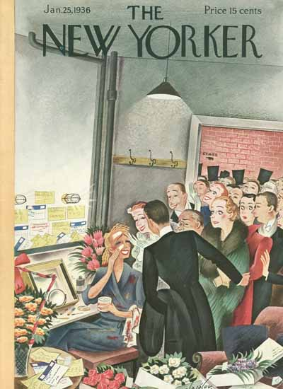 Constantin Alajalov The New Yorker 1936_01_25 Copyright | The New Yorker Graphic Art Covers 1925-1945