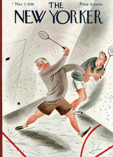 Constantin Alajalov The New Yorker 1936_03_07 Copyright | The New Yorker Graphic Art Covers 1925-1945