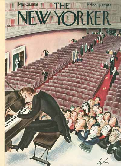 Constantin Alajalov The New Yorker 1936_03_21 Copyright | The New Yorker Graphic Art Covers 1925-1945