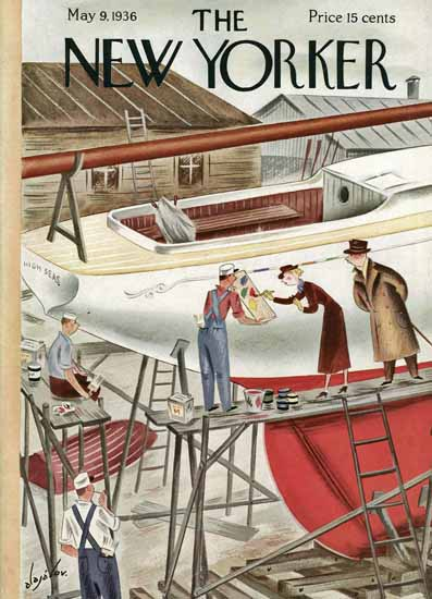 Constantin Alajalov The New Yorker 1936_05_09 Copyright | The New Yorker Graphic Art Covers 1925-1945