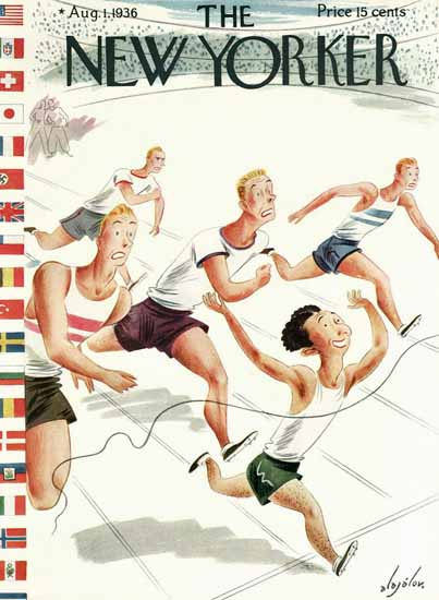 Constantin Alajalov The New Yorker 1936_08_01 Copyright | The New Yorker Graphic Art Covers 1925-1945