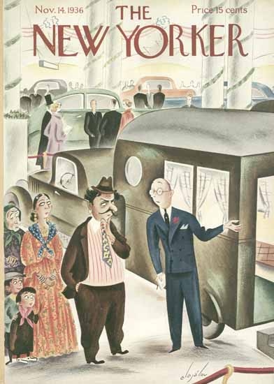Constantin Alajalov The New Yorker 1936_11_14 Copyright | The New Yorker Graphic Art Covers 1925-1945