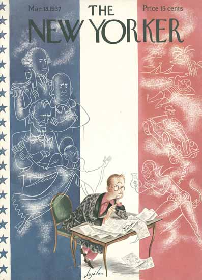 Constantin Alajalov The New Yorker 1937_03_13 Copyright | The New Yorker Graphic Art Covers 1925-1945