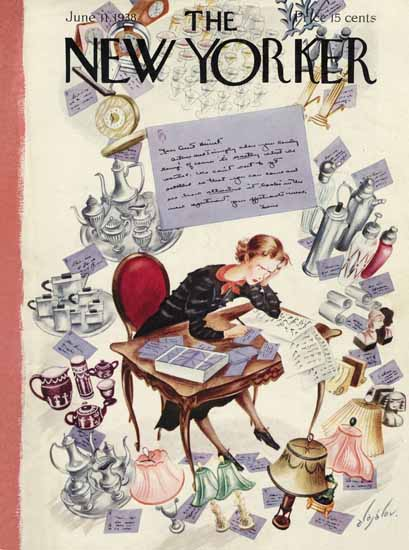 Constantin Alajalov The New Yorker 1938_06_11 Copyright | The New Yorker Graphic Art Covers 1925-1945
