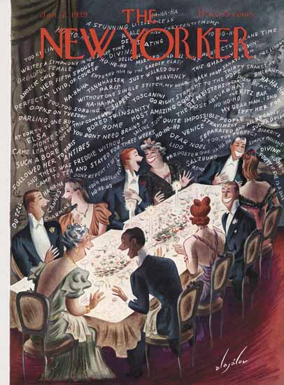 Constantin Alajalov The New Yorker 1939_01_07 Copyright | The New Yorker Graphic Art Covers 1925-1945