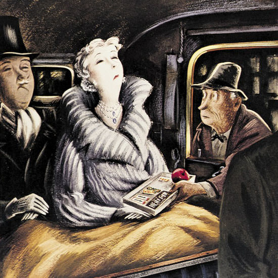 Constantin Alajalov The New Yorker 1939_03_11 Copyright crop | Best of 1930s Ad and Cover Art