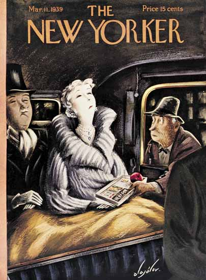 Constantin Alajalov The New Yorker 1939_03_11 Copyright | The New Yorker Graphic Art Covers 1925-1945