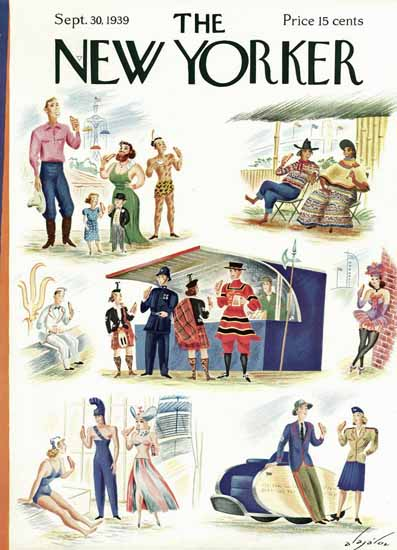 Constantin Alajalov The New Yorker 1939_09_30 Copyright | The New Yorker Graphic Art Covers 1925-1945