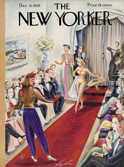 Constantin Alajalov The New Yorker 1939_12_09 Copyright | The New Yorker Graphic Art Covers 1925-1945