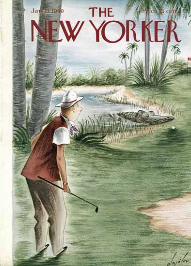 Constantin Alajalov The New Yorker 1940_01_27 Copyright | The New Yorker Graphic Art Covers 1925-1945