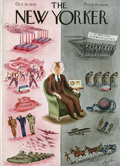 Constantin Alajalov The New Yorker 1940_10_19 Copyright | The New Yorker Graphic Art Covers 1925-1945