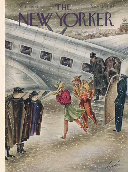 Constantin Alajalov The New Yorker 1941_03_01 Copyright | The New Yorker Graphic Art Covers 1925-1945