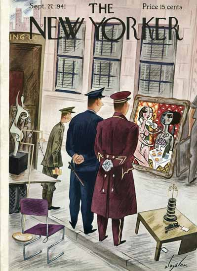 Constantin Alajalov The New Yorker 1941_09_27 Copyright | The New Yorker Graphic Art Covers 1925-1945