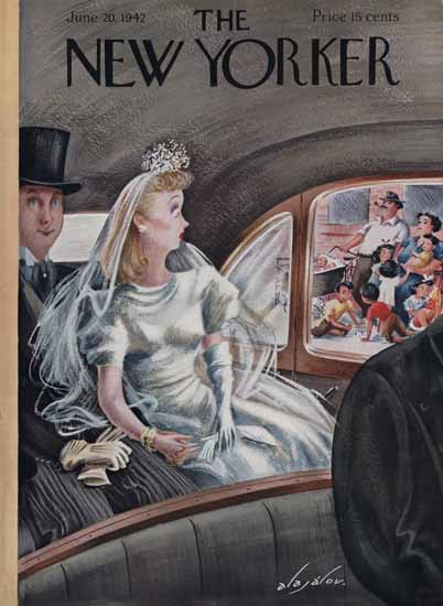Constantin Alajalov The New Yorker 1942_06_20 Copyright | The New Yorker Graphic Art Covers 1925-1945