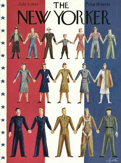 Constantin Alajalov The New Yorker 1943_07_03 Copyright | The New Yorker Graphic Art Covers 1925-1945