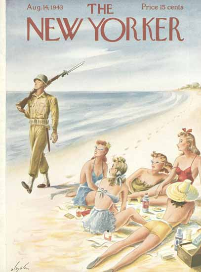 Constantin Alajalov The New Yorker 1943_08_14 Copyright | The New Yorker Graphic Art Covers 1925-1945
