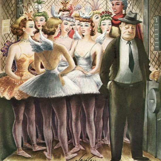 Constantin Alajalov The New Yorker 1943_12_11 Copyright crop | Best of Vintage Cover Art 1900-1970