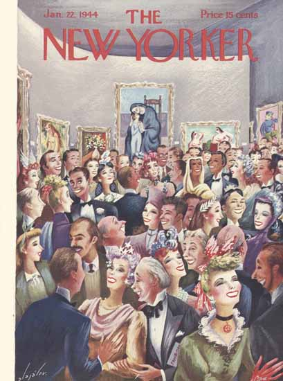 Constantin Alajalov The New Yorker 1944_01_22 Copyright | The New Yorker Graphic Art Covers 1925-1945