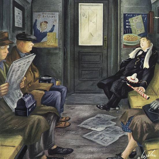 Constantin Alajalov The New Yorker 1944_12_30 Copyright crop | Best of Vintage Cover Art 1900-1970