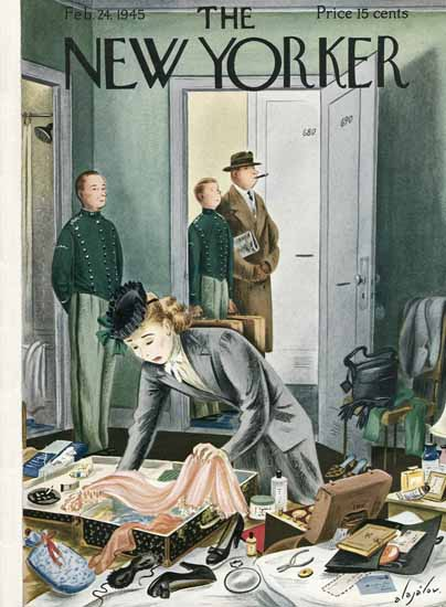 Constantin Alajalov The New Yorker 1945_02_24 Copyright | The New Yorker Graphic Art Covers 1925-1945