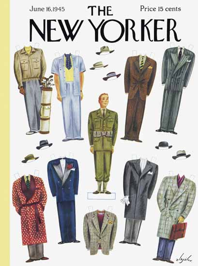 Constantin Alajalov The New Yorker 1945_06_16 Copyright | The New Yorker Graphic Art Covers 1925-1945