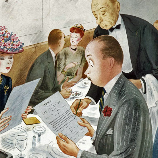 Constantin Alajalov The New Yorker 1945_07_14 Copyright crop | Best of 1940s Ad and Cover Art