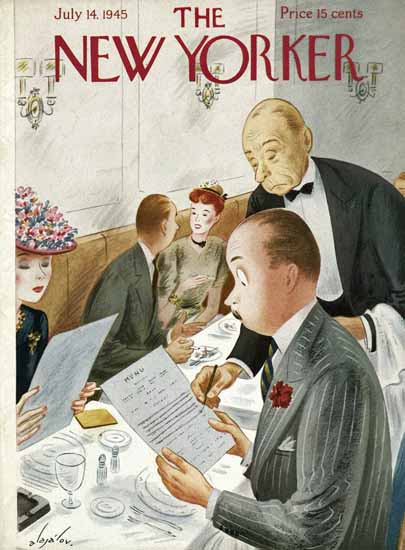 Constantin Alajalov The New Yorker 1945_07_14 Copyright | The New Yorker Graphic Art Covers 1925-1945