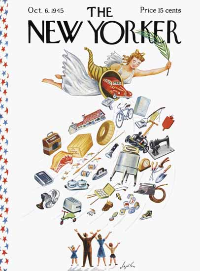 Constantin Alajalov The New Yorker 1945_10_06 Copyright | The New Yorker Graphic Art Covers 1925-1945