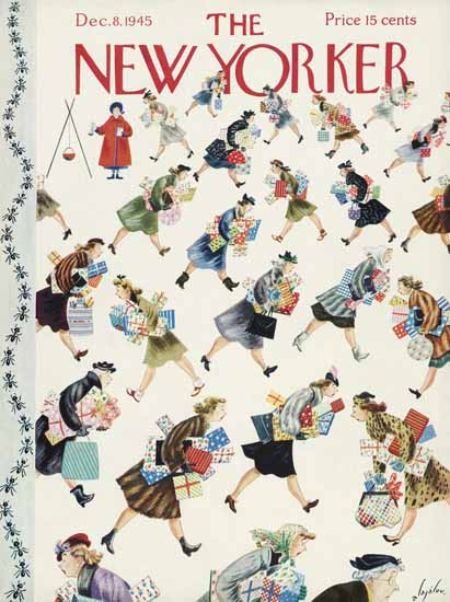 Constantin Alajalov The New Yorker 1945_12_08 Copyright | The New Yorker Graphic Art Covers 1925-1945