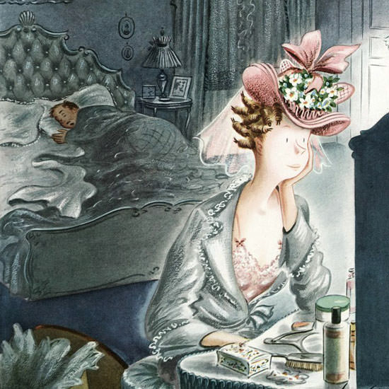 Constantin Alajalov The New Yorker 1946_04_20 Copyright crop | Best of Vintage Cover Art 1900-1970