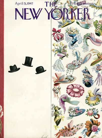 Constantin Alajalov The New Yorker 1947_04_05 Copyright | The New Yorker Graphic Art Covers 1946-1970
